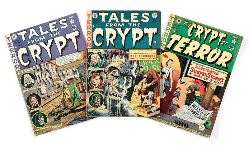 The auction also includes comic books from Jerry Garcia's personal collection, which included E.C titles such as Tales from the Crypt and Weird Science (Image: Bonhams)