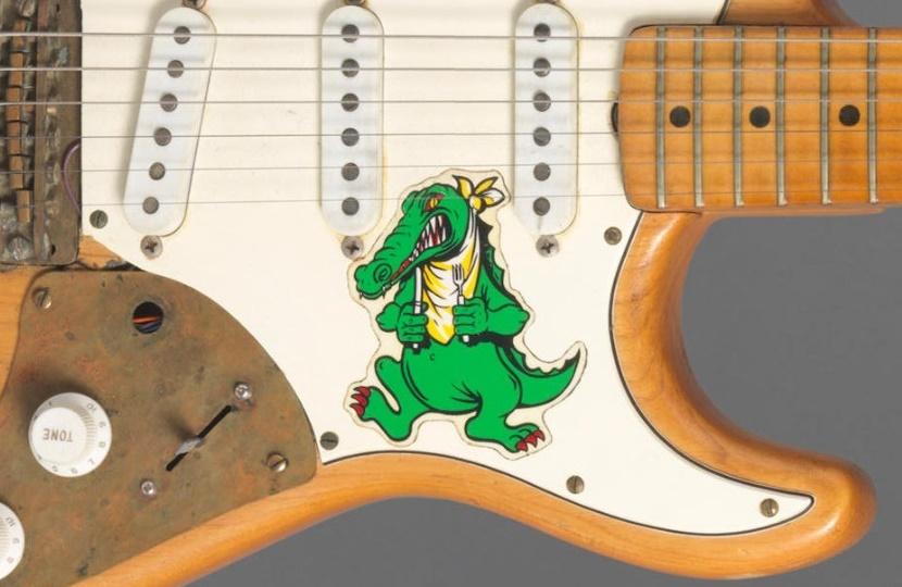jerry garcia 39 s alligator guitar to auction at bonhams. Black Bedroom Furniture Sets. Home Design Ideas