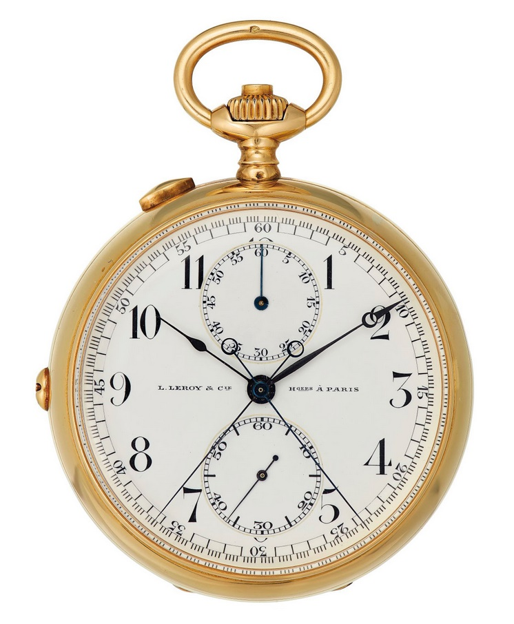 A  L. Leroy & Cie. 18k Gold openface pocket watch owned by Ernest Hemingway (Image: Christie's)