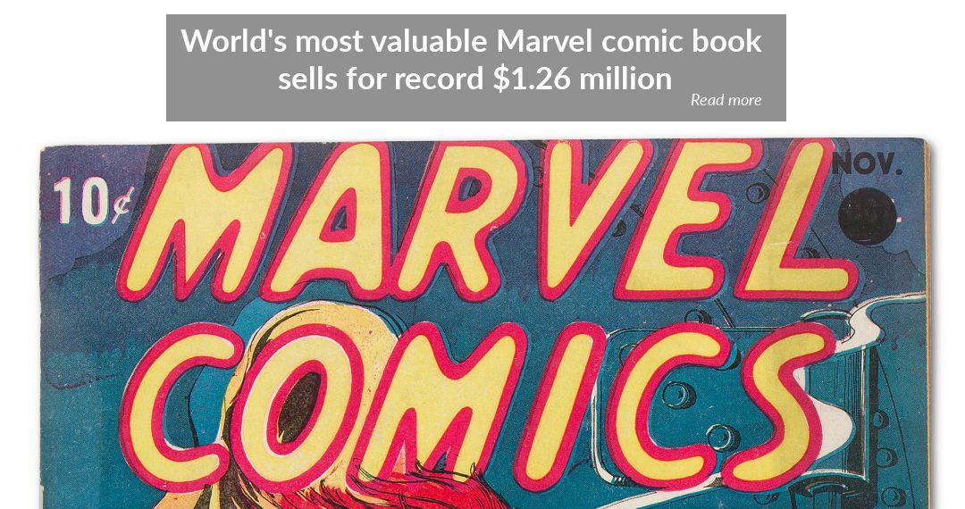 Marvel Comics #1 sells for world record $1.26 million at Heritage Auctions