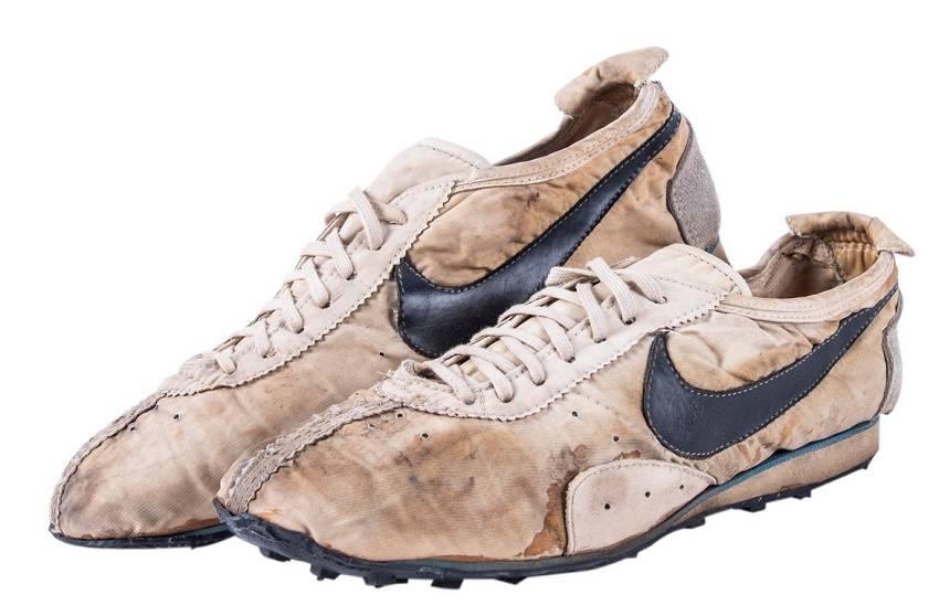The 1972 prototype Nike Moon Shoes, estimated at $100,000+ (Image: Goldin Auctions)