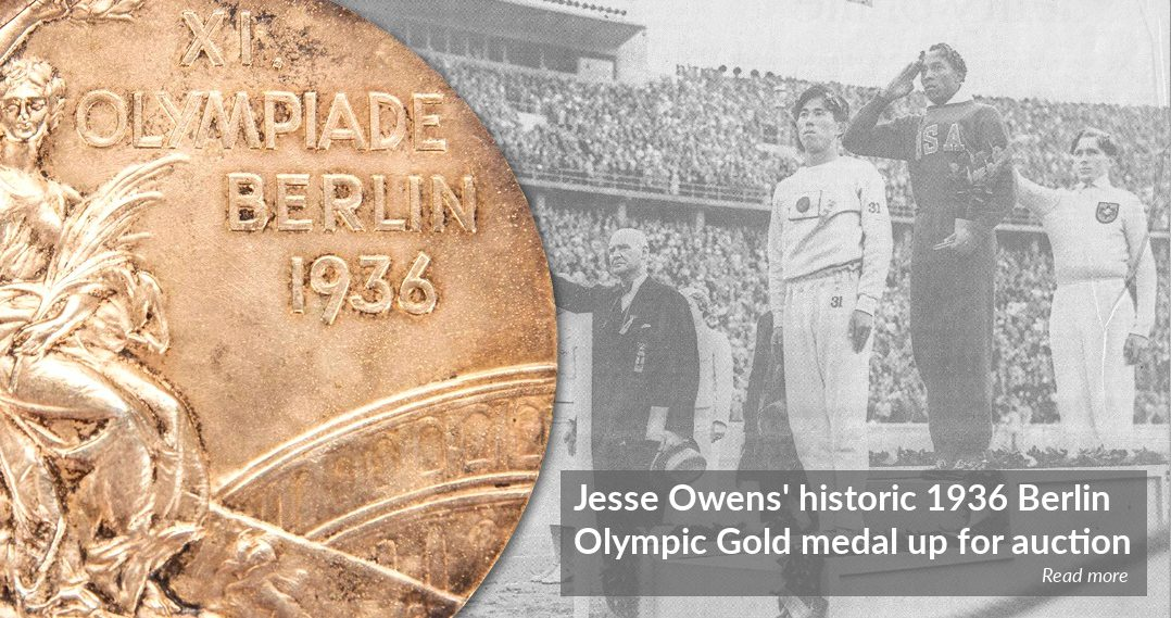 Jesse Owens' 1936 Berlin Olympic gold medal up for sale at Goldin Auctions