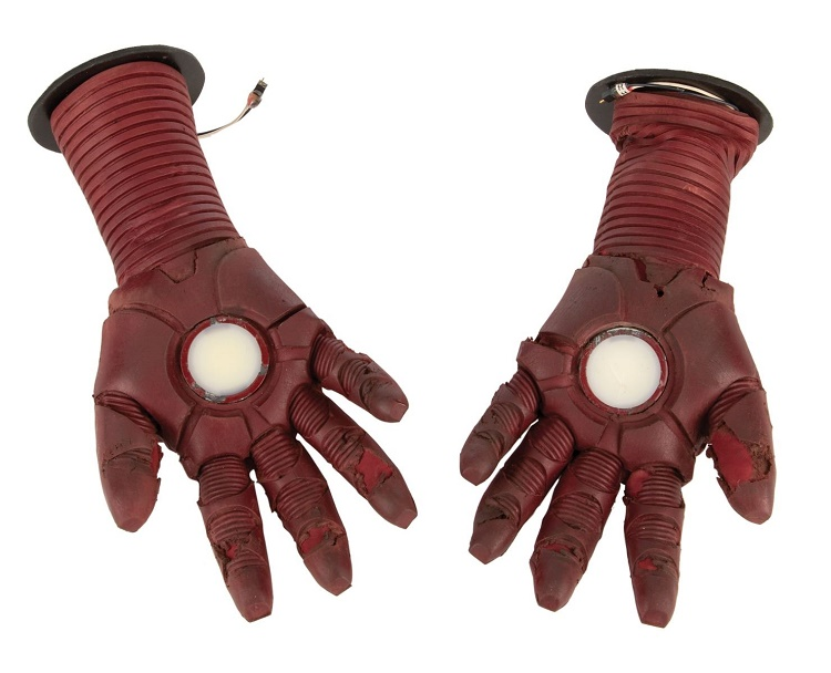 Robert Downey Jr.'s screen-worn Repulsor gloves from Iron Man 3 (Image: Profiles in History)