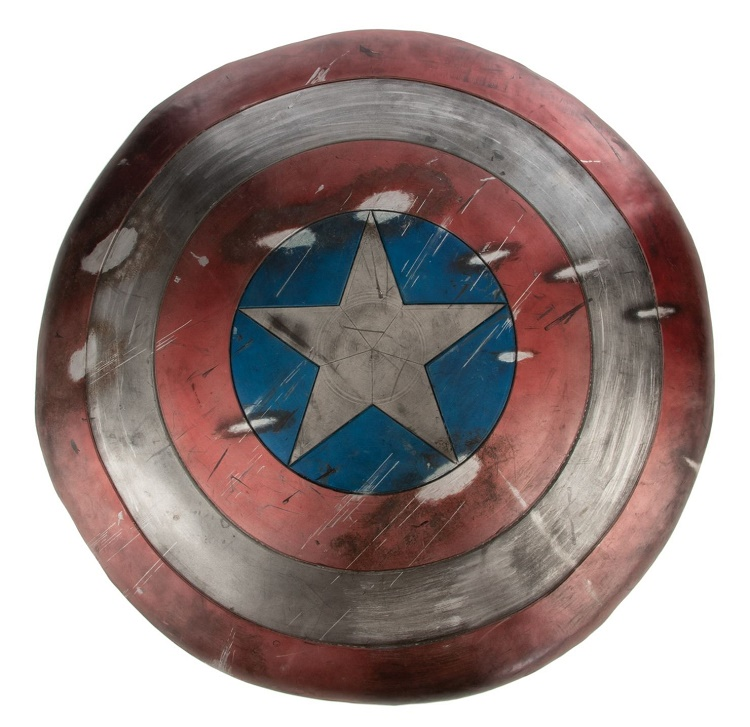 A battle-scarred Vibranium shield from Captain America: The First Avenger (Image: Profiles in History)
