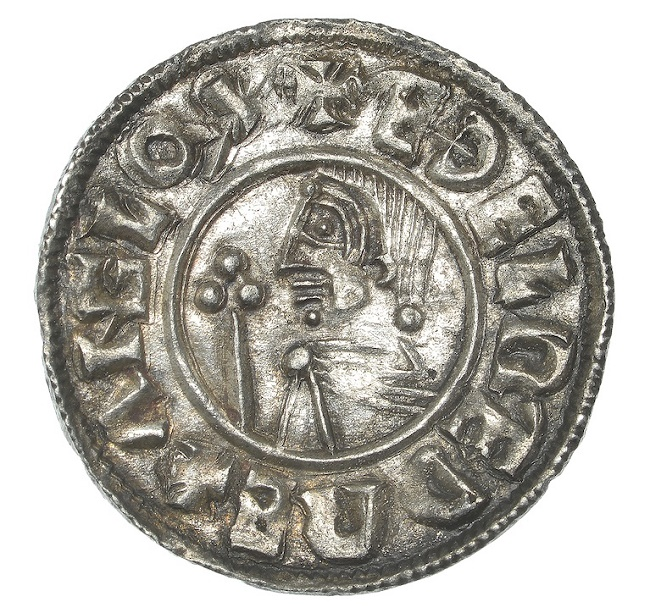 One of the ancient silver pennies from the reign of  Aethelred the Unready (Image: Dix Noonan Webb)