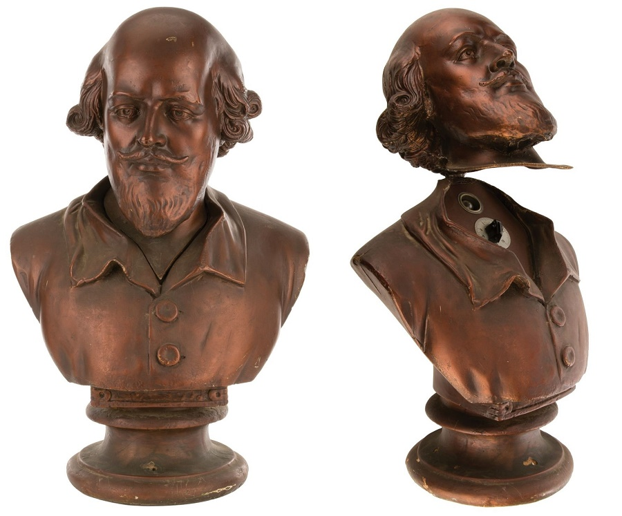 The Shakespeare bust from Bruce Wayne's study, which allowed entry to the Bat-cave via a hidden switch (Image: Profiles in History)