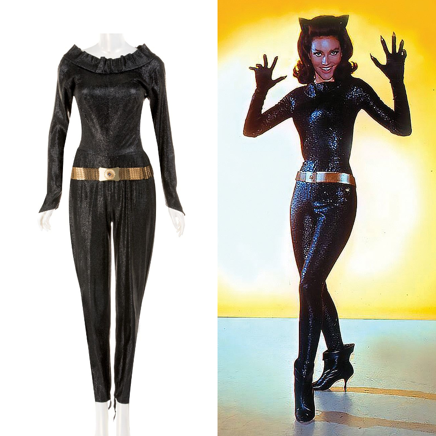 Lee Merriweather's screen-worn Catwoman suit from the 1966 Batman movie (Image: Profiles in History)