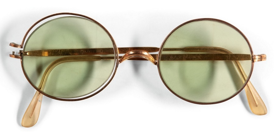John Lennon's round sunglasses, which sold for £137,500 (Image: Sotheby's)