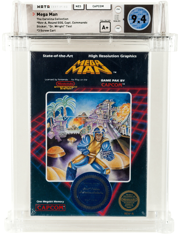 A highly rare copy of Mega Man for the NES, believed to be the only original factory-sealed copy in existence (Image: Heritage Auctions)