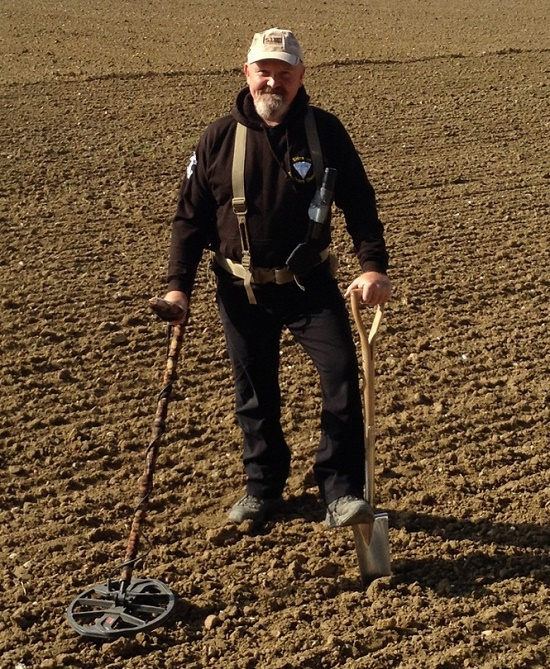 Lucky detectorist Don Crawley, who uncovered the hoard of coins during a search in a farmer's field in 2017 (Image: Dix Noonan Webb)