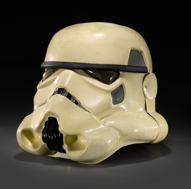 A rare prototype Star Wars stormtrooper helmet, estimated at £30,000 - £60,000 (Image: Sotheby's)