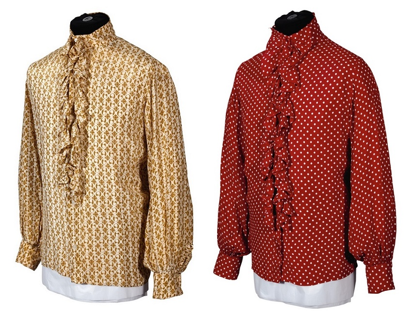 Two of Ringo Starr's shirts, wore as a member of The Beatles in the late 1960s (Image: Sotheby's)