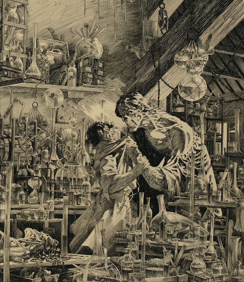 "The incredible level of detail in the illustration has led experts to decribe it as Wrightson's own ""Sistine Chapel"" (Image: Profiles in History)"