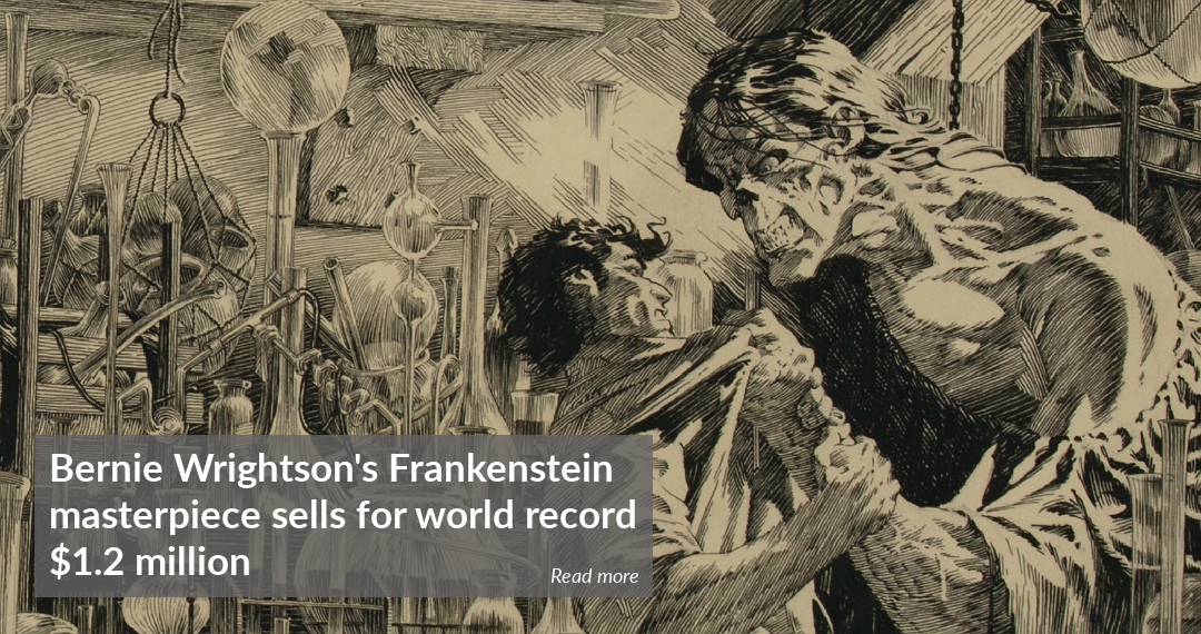 Bernie Wrightson Frankenstein comic book art sold for record $1.2 million