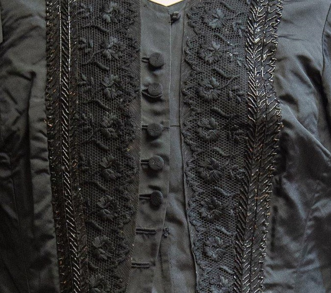 A black bodice worn by Queen Victoria during her 40-year mourning period for Prince Albert (Image: Hanson's)