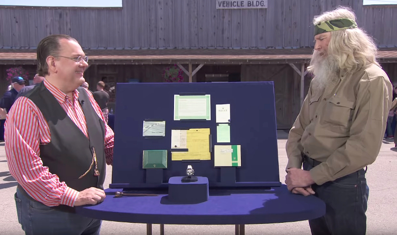 Expert Peter Planes explained the exceptional rarity of the watch to its owner (Image: Antiques Roadshow / PBS)