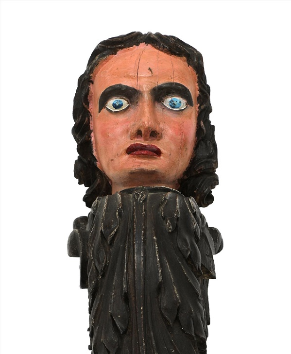 18th century wooden figurehead