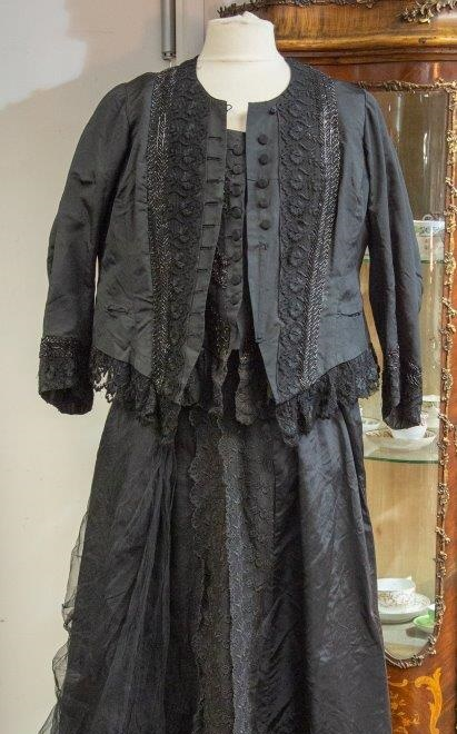 Queen Victoria's black skirt and bodice, which spent more than 100 years tucked at the back of a wardrobe (Image: Hanson's Auctions)