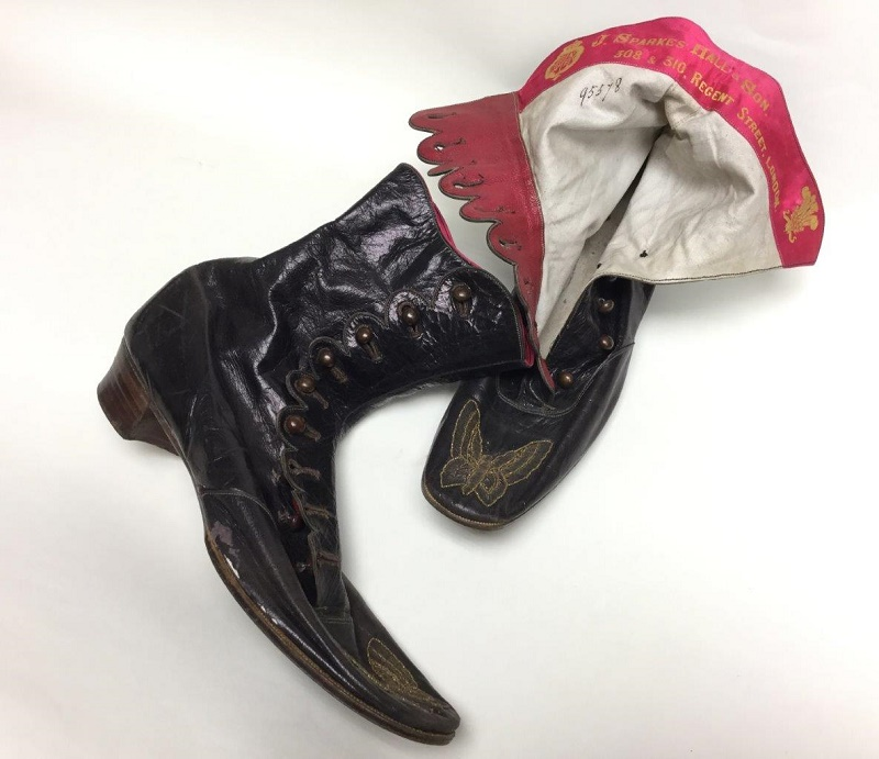 A pair of Queen Victoria's leather ankle boots made by J. Sparkes, Hall & Son of Regent Street, London (Image: Hanson's)