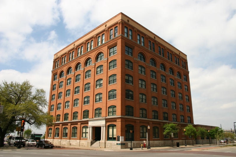 The Texas Book Depository where Oswald worked - now one one of the most notorious buildings in America.