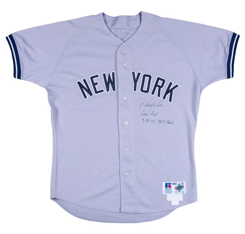 Derek Jeter's jersey, worn during his MLB debut with the New York Yankees on May 29, 1995 (Image: Goldin Auctions)