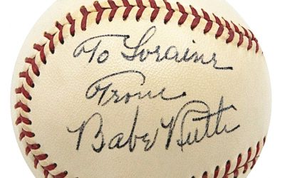 Mint condition Babe Ruth signed baseball sold for world record price at Grey Flannel Auctions