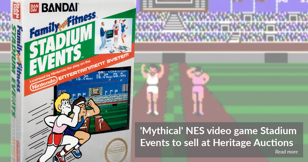 Rare NES video game Stadium Events to sell at Heritage Auctions