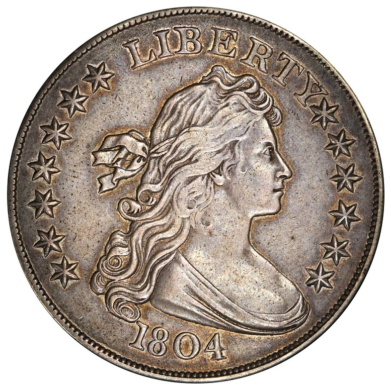 The 1804 Silver Dollar, described as 'The King of American Coins', estimated at $1.2 - $1.5 million (Image: Stack's Bowers Galleries)