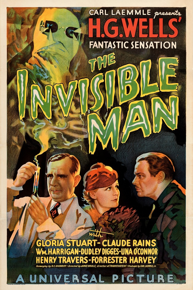 The Invisible Man style-B one-sheet poster, est. $125,000 - $250,000 (Image: Heritage Auctions, HA.com)