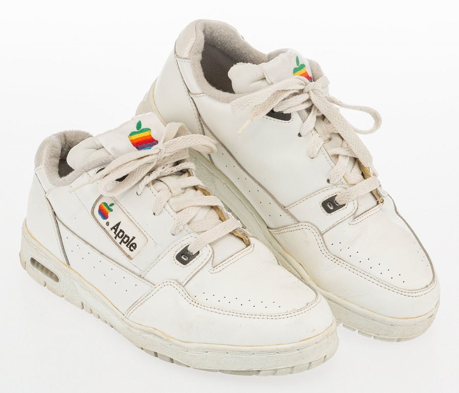 An original pair of prototype Apple sneakers dating from the early 1990s (Image: Heritage Auctions)