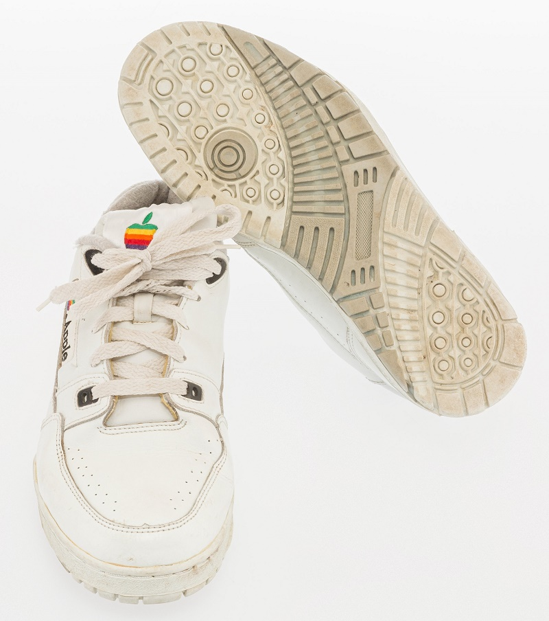 The discovery of the sneakers in 2016 inspired a wave of new designers, and the now the failed Apple sneaker has become an unlikely 1990s design classic (Image: Heritage Auctions)