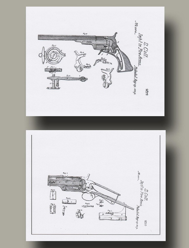 The archive includes Colt's drawing for his improvements to the revolver (Image: University Archives)