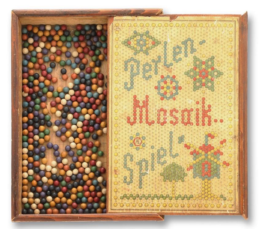 Albert Einstein's antique peg board puzzle game, circa 1880s (Image: Bonhams)