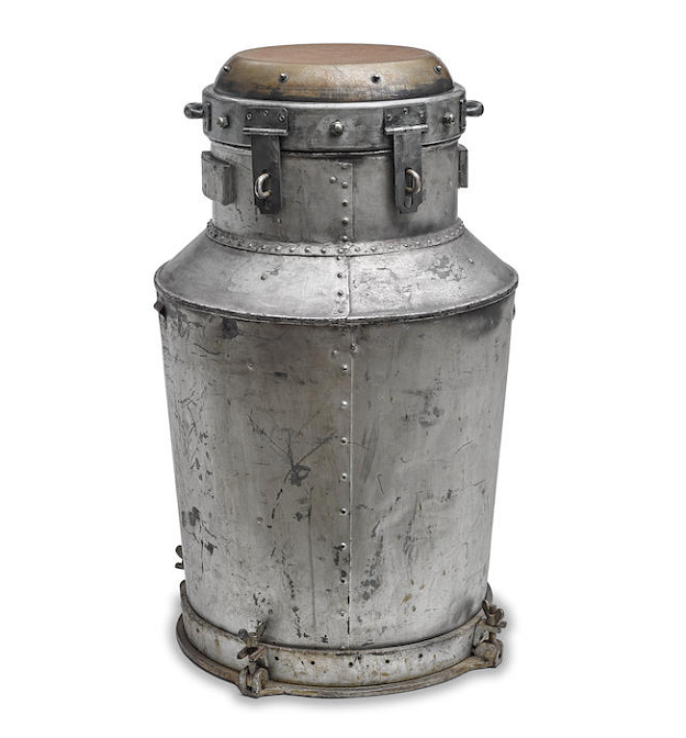 Houdini's Milk Can escape trick, estimated at $25,000 - $35,000 (Image: Bonhams)