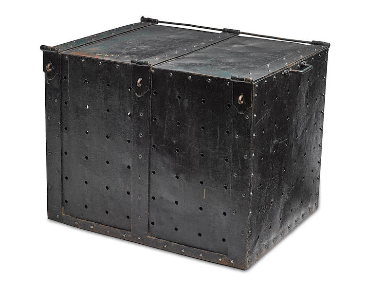 A steel escape box from the collection of Harry Houdini, estimated at $50,000 - $70,000 (Image: Bonhams)