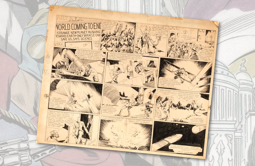 Alex Raymond's original Flash Gordon #1 comic strip art set for auction