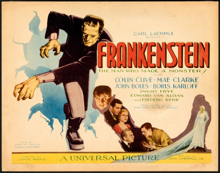 An original 1931 Frankenstein lobby card, estimated at $50,000 - $100,000 (Image: Heritage Auctions)