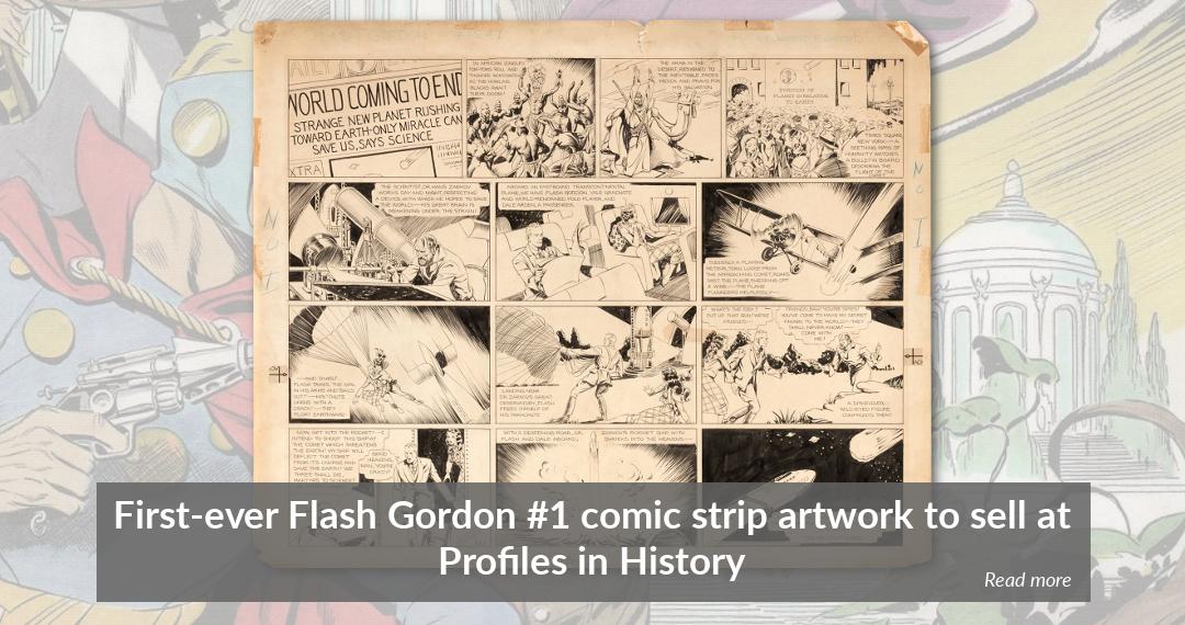 Alex Raymond's original Flash Gordon #1 comic strip artwork to auction at Profiles in History