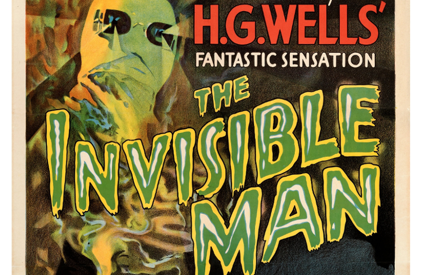 Original 1933 Invisible Man movie poster to auction at Heritage