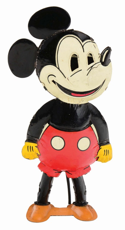German tin-litho wind-up Five Finger Mickey Mouse toy, estimated at $20,000 - $40,000 (Image: Morphy Auctions)