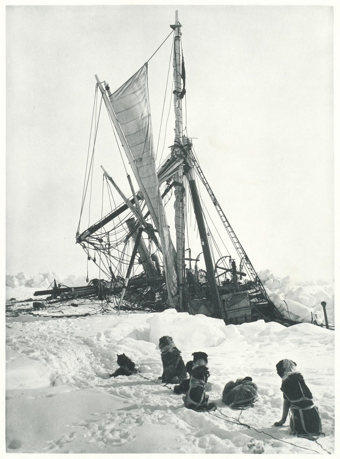 The Endurance was finally crushed by the intense pressure of the ice pack in October 1915 (Image: Bonhams)