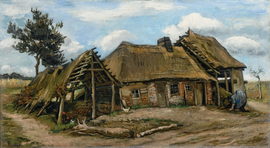 'Peasant Woman in front of a Farmhouse' (1885) by Vincent Van Gogh (Image: Simon C. Dickinson)