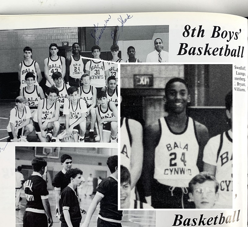 Kobe Bryant, pictured in 1992 as a member of his eighth-grade high school basketball team (Image: Iconic Auctions)