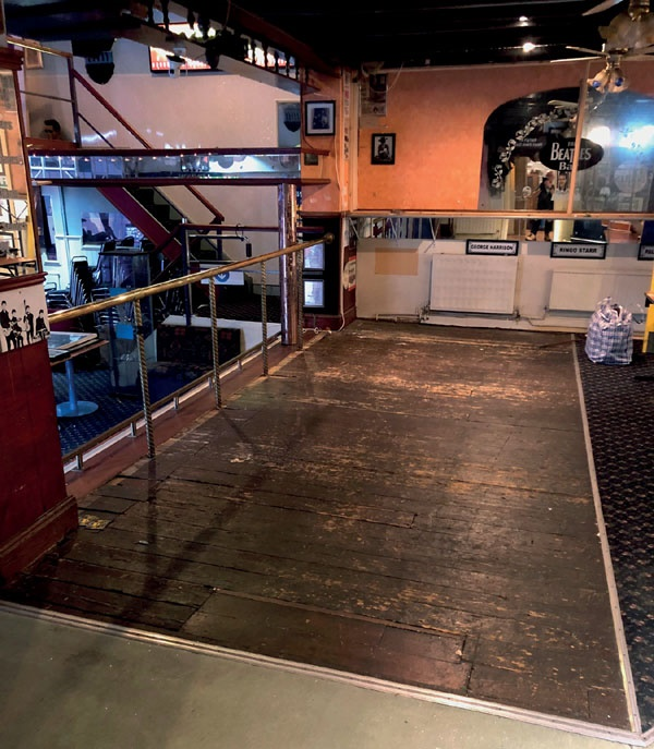 The original wooden stage on which The Beatles first performed in May 1960 as The Silver Beats (Image: Julien's Auctions)