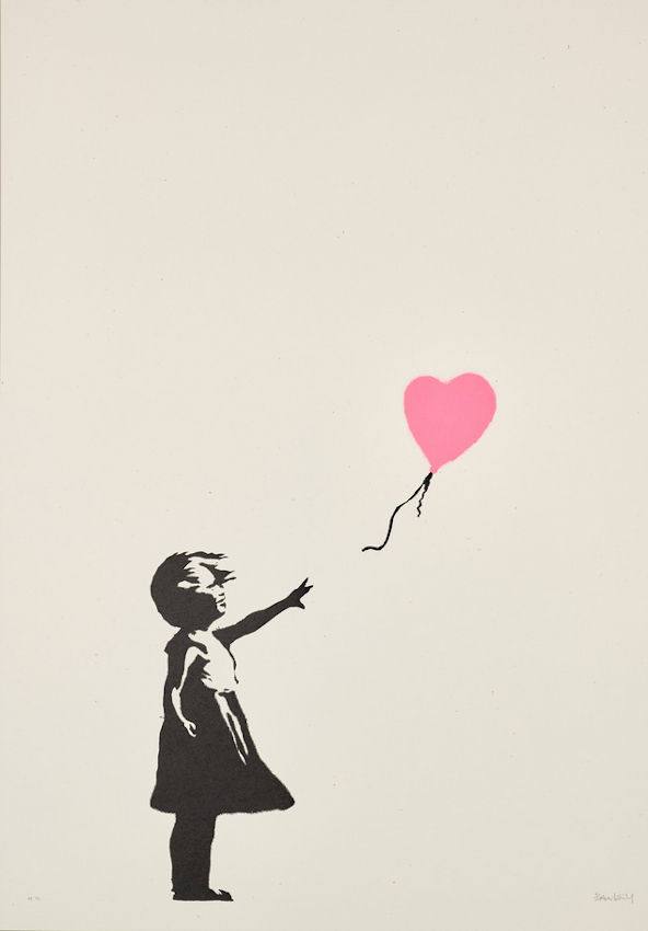 Girl with Balloon AP (Dark Pink), estimated at £300,000 - £500,000 (Image: Sotheby's)