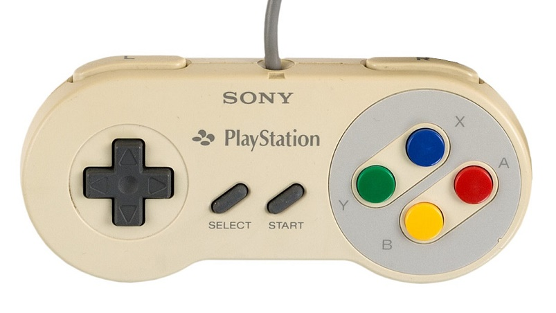 The unique console includes the classic SNES controller, branded with the Sony Playstation logo (Image: Heritage Auctions)