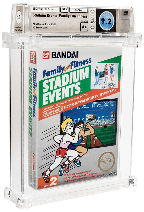 Stadium Events is regarded by collectors as the rarest NES video game ever officially released in U.S stores, with only 200 copies known to exist (Image: Heritage Auctions)