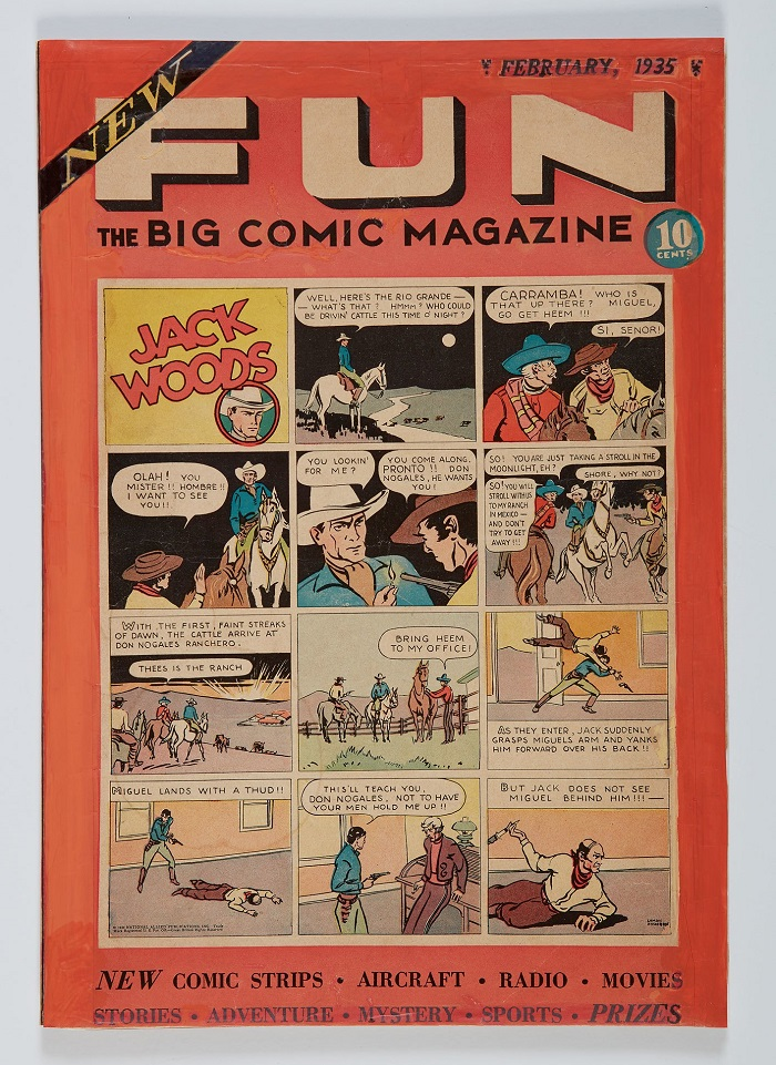 New Fun: The Big Comic Magazine #1, the first comic book ever published by National Allied Publication, which went on to become D.C Comics (Image: Sotheby's)