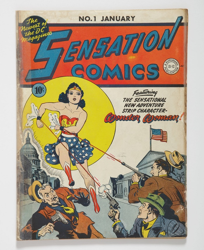 Sensation Comics #1, featuring the debut of Wonder Woman (Image: Sotheby's)