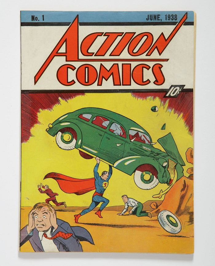 Action Comics #1, featuring the debut of Superman (Image: Sotheby's)